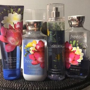 Bath and Body Works Freesia set